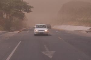 No crean que se trata de una tormenta de arena en el desierto, es el polvo que caía sobre la ciudad de León hoy, debido a los fuertes vientos que azotaron la ciudad y los campos de siembra. Fotos: Ali B. del Castillo | CAWTV