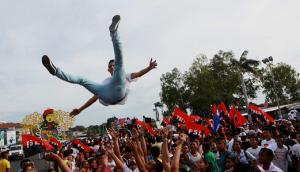 """Sandinistas festejan en Managua el """"Día de la alegría"""" (EFE)"""