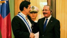 Presidente Medina recibe a Ma Ying-jeou, presidente de Taiwán. Foto Noticias SIN
