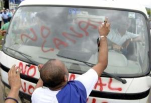 Protestas por el canal interoceánico en Juigalpa, Nicaragua, el 13 de junio de 2015. (AFP/Archivos   Str)