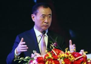 El presidente del grupo chino Wanda, Wang Jialin, el hombre más rico de su país, hablando en una reunión en Pekín el 10 de febrero de 2015 (AFP/Archivos | Greg Baker)