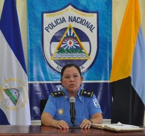 Comisionada María Elena Vado, de la Dirección de Comisarías de la Mujer y la Familia.