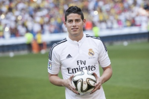 James Rodríguez del Real Madrid.