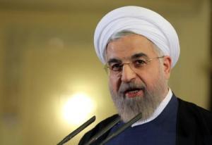 El presidente iraní, Hasan Rohani, en una rueda de prensa en Teherán el 3 de abril de 2015. Teherán acoge una cumbre del gas que estará centrada en Siria y que contará con la visita del presidente ruso, Vladimir Putin, entre otros AFP PHOTO/ATTA KENARE (AFP/Archivos   Atta Kenare