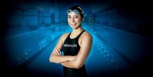 Dalia Torrez, una de las atletas del Team Herbalife que es considerada como la mejor nadadora nicaragüense en la categoría femenina, busca la clasificación para los Juegos Olímpicos que se realizarán en Brasil en este año.