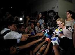 Lourdes Rodríguez de Flores, viuda del expresidente salvadoreño Foto: EFE