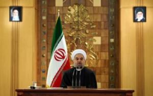 El presidente iraní, Hasan Rohani, habla en una rueda de prensa en Teherán el 17 de enero de 2016 (AFP | Atta Kenare)