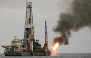 Plataforma Deepwater Navigator NS-23, propiedad de Petrobras, el 7 de diciembre de 2015 frente a las costas de Espiritu Santo en Brasil (AFP | Vitoria Vélez)